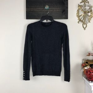Grey sweater with pearl detail